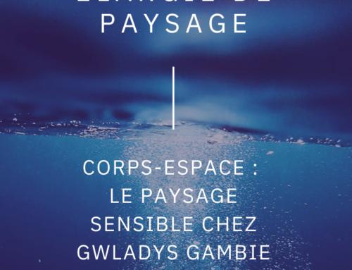 Corps-espace: le paysage sensible chez Gwladys Gambie.